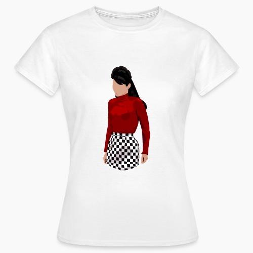 Lupetto rossa e imperdibile gonna a scacchi - Maglietta da donna