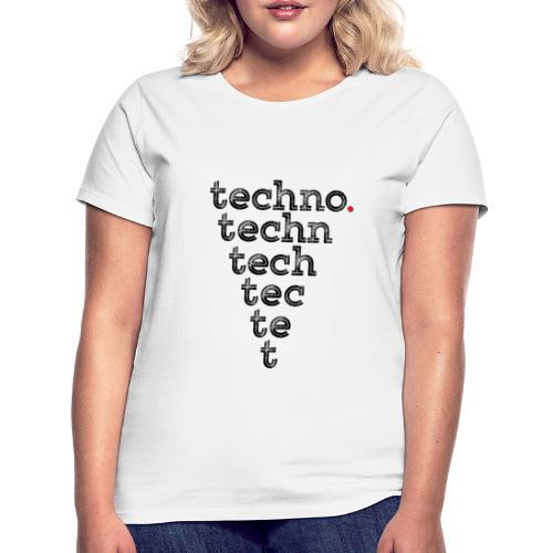 Techno - Koszulka damska