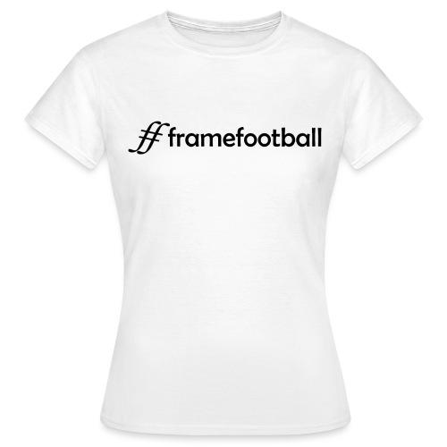 # Frame Football Black - Women's T-Shirt
