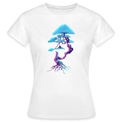 Tree design light blue and pink - Women's T-Shirt
