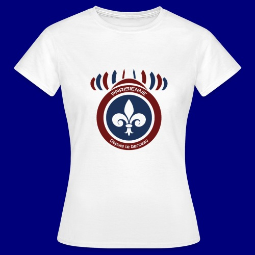 Parsienne rouge bleu - T-shirt Femme