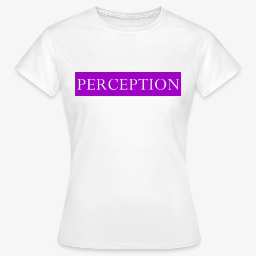 PERCEPTION CLOTHES VIOLET ET BLANC - T-shirt Femme