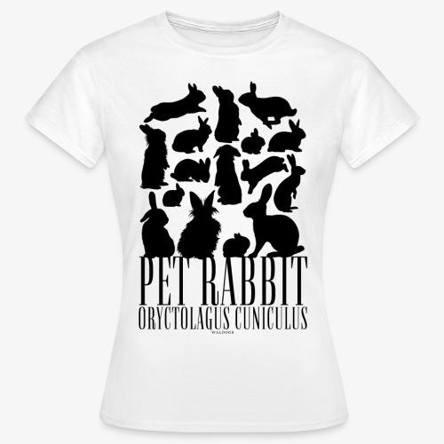 Pet Rabbit Black - Naisten t-paita
