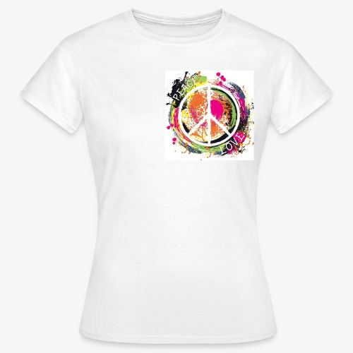 Peace and Love - Frauen T-Shirt