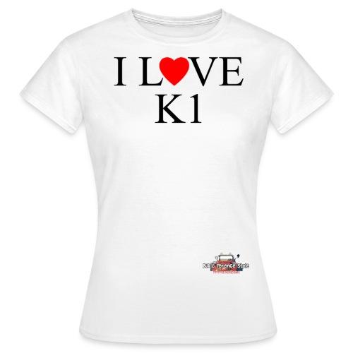 i love k1 nera - Maglietta da donna
