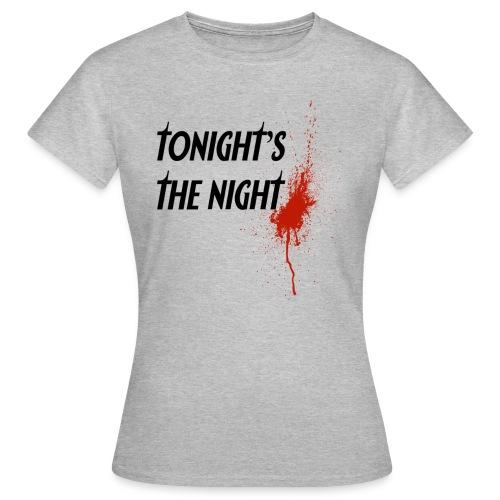 dexter tonight s the night - Camiseta mujer