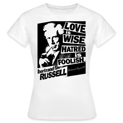 Bertrand Russell Love - Women's T-Shirt
