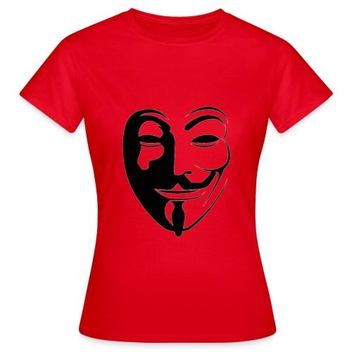 Anonymous Round Face - Naisten t-paita