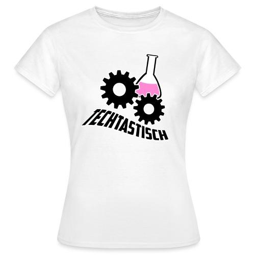 Techtasticlogoweiß png - Frauen T-Shirt