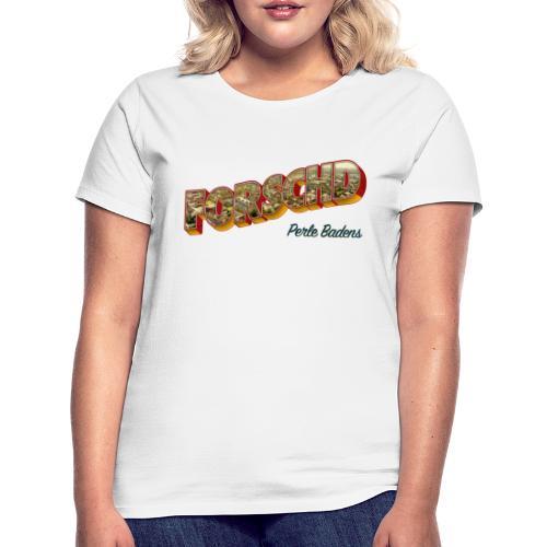 Forschd - Perle Badens - Vintage-Logo mit Luftbild - Frauen T-Shirt