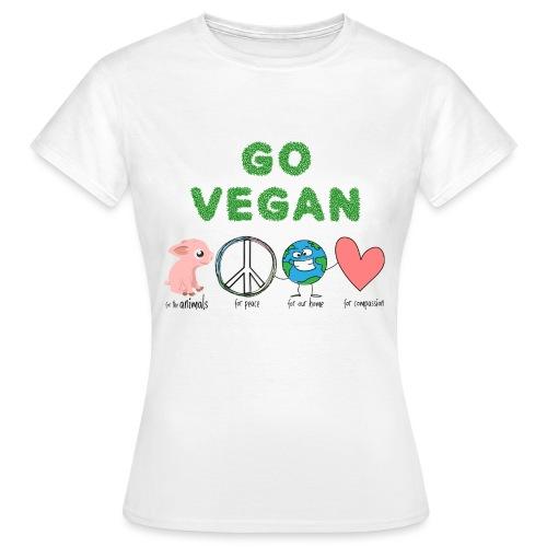 go vegan - Dame-T-shirt
