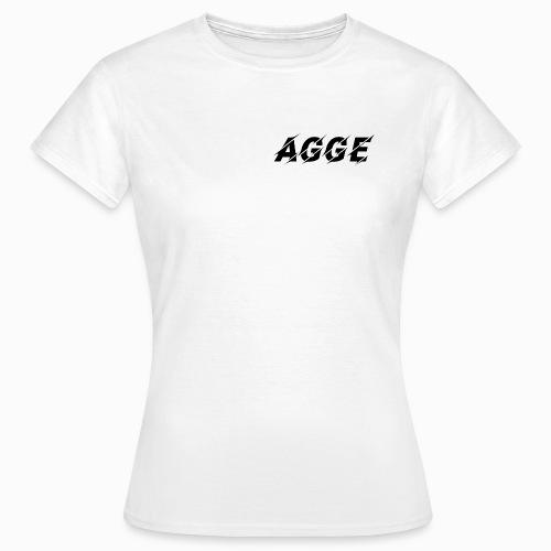Agge - Svart Logga   Fram - T-shirt dam