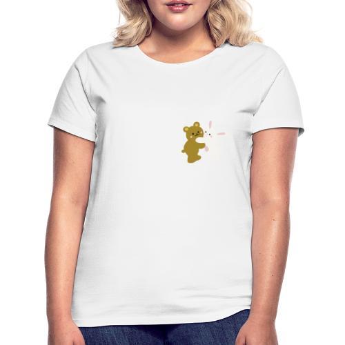 bear and bunny - Camiseta mujer