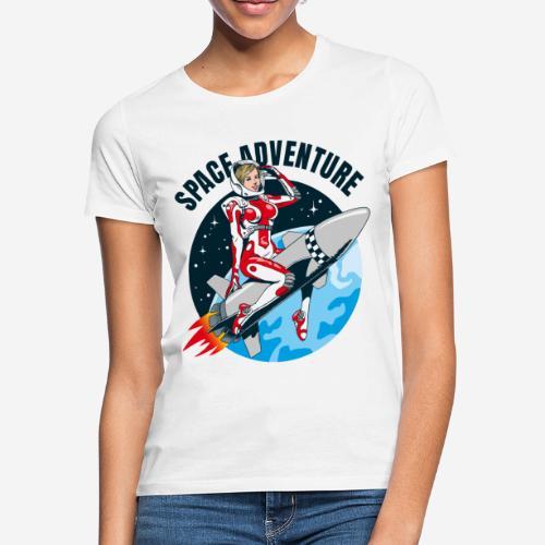 space adventure rocket girl - Frauen T-Shirt