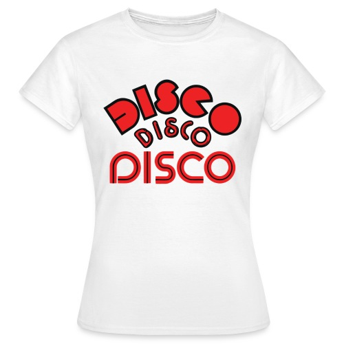 disco 123 4 white - Women's T-Shirt