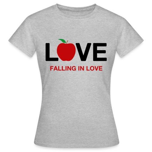 Falling in Love - Black - Women's T-Shirt