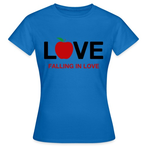 Falling in Love - Black - Women's T-Shirt