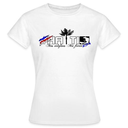 logo haiti blanc png - T-shirt Femme