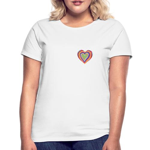 A heart in hearts is pure love on many levels - Women's T-Shirt