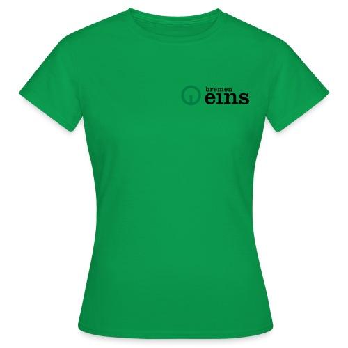 BremenEins_Logo_pos_cmyk - Frauen T-Shirt