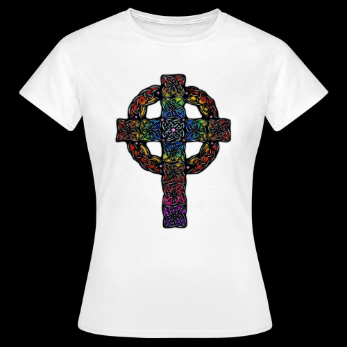 Celtic Cross - rainbow - Women's T-Shirt