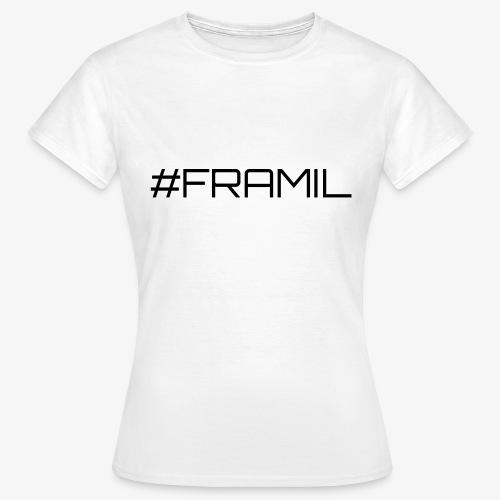 Musta framil - Naisten t-paita