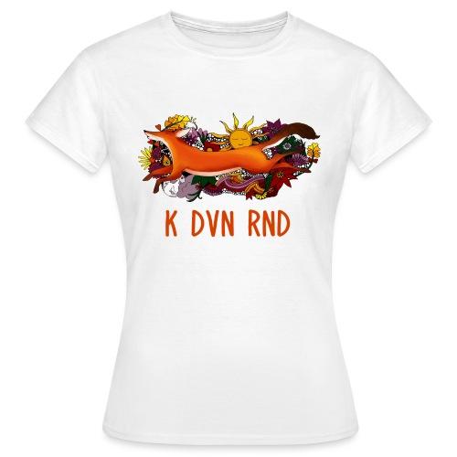 K DVN RND - Floral Fox - T-shirt Femme