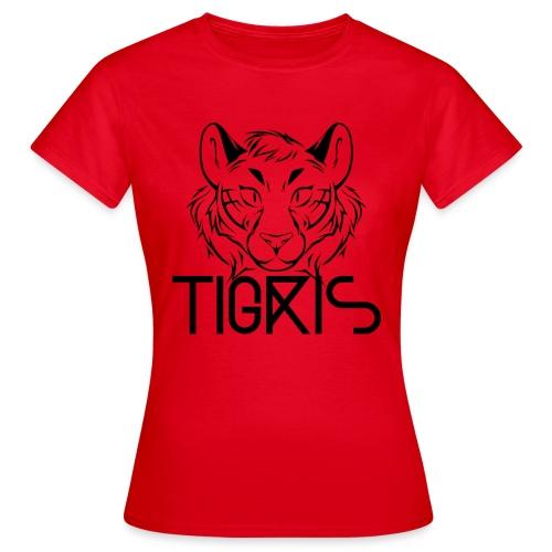 Tigris Logo Picture Text Black - Women's T-Shirt