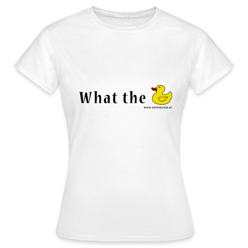 Whattheduck png - Frauen T-Shirt