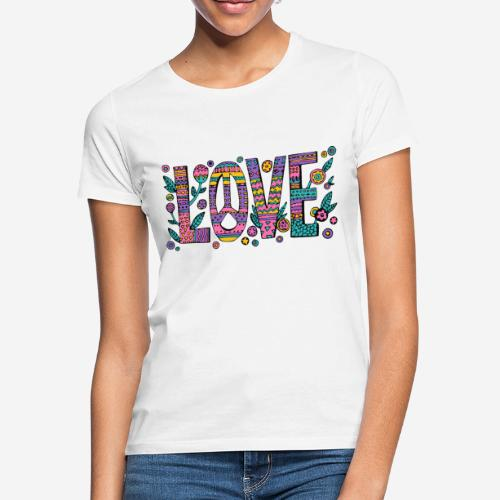 love peace hippie style - Frauen T-Shirt