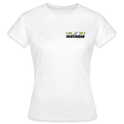 Volvstagram Black - T-skjorte for kvinner
