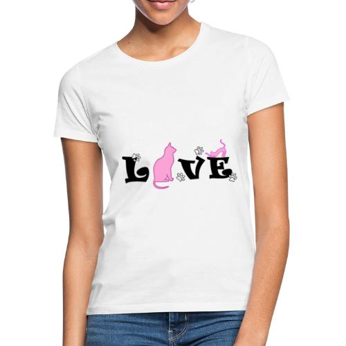 amor gatuno - Camiseta mujer