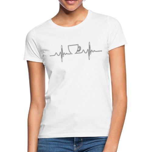 Herzschlag Kaffee Design - Frauen T-Shirt