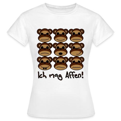 Ich mag Affen - Frauen T-Shirt