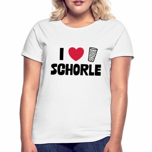 I love Schorle & Dubbe Schobbe - Frauen T-Shirt