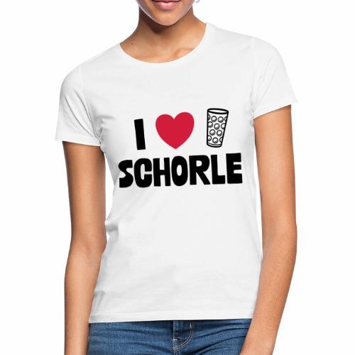 I love Schorle & Dubbeglas - Frauen T-Shirt