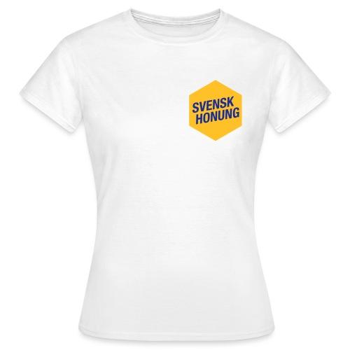 Svensk honung Hexagon Gul/Blå - T-shirt dam