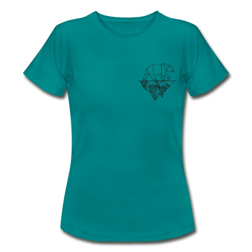 Bear and Mountain - Frauen T-Shirt
