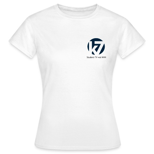 studenttv sort font gif - T-skjorte for kvinner