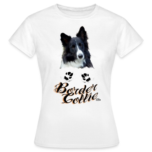 Border Collie Pfötchen - Frauen T-Shirt