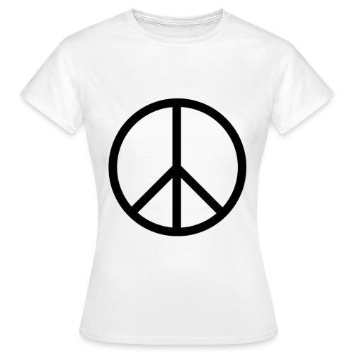 Peace Make love not war - Vrouwen T-shirt