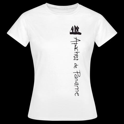 logo apaches vertical noir - T-shirt Femme