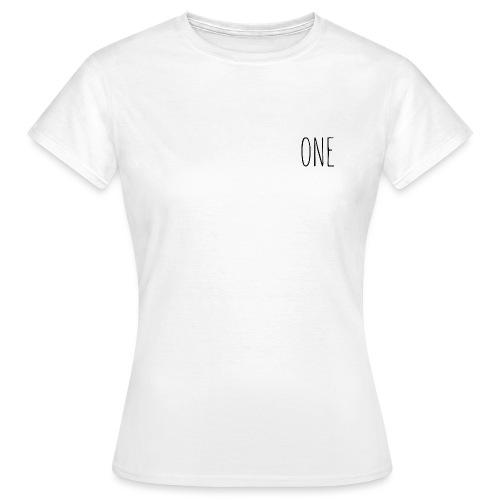 One (Schwarz) - Frauen T-Shirt