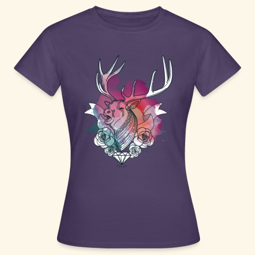 Moderner Hirsch - Frauen T-Shirt