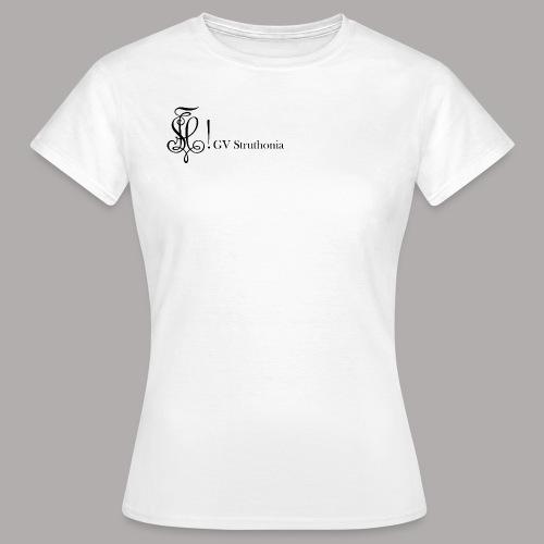 Zirkel mit Name, schwarz (vorne) - Frauen T-Shirt