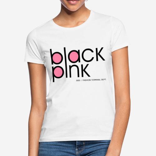 schwarzer rosa Modestil - Frauen T-Shirt