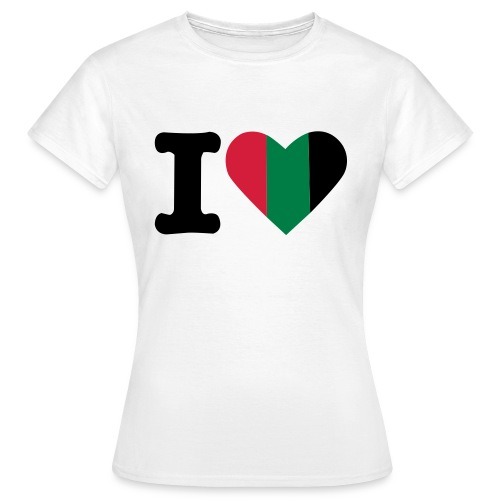 hartjeroodzwartgroen - Vrouwen T-shirt