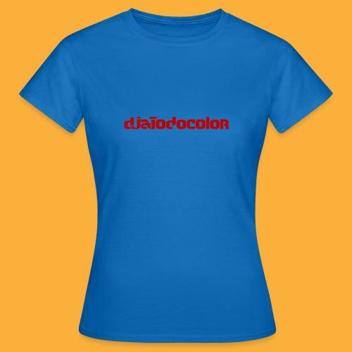 DJATODOCOLOR LOGO ROJO - Camiseta mujer