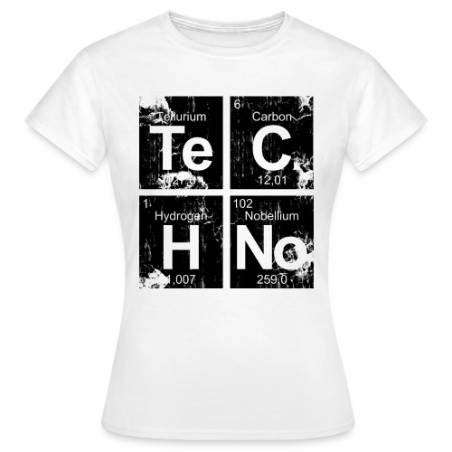 Dark Techno Elemente Black & White Paranoid Rave - Frauen T-Shirt