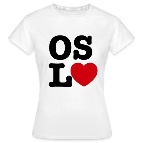 Oslove - OSL♥ - T-skjorte for kvinner